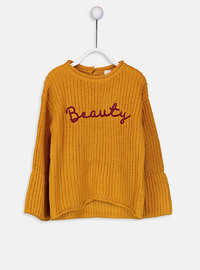 Crew neck - Brown - Girls` Pullovers