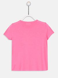 Crew neck - Fuchsia - Girls` T-Shirt