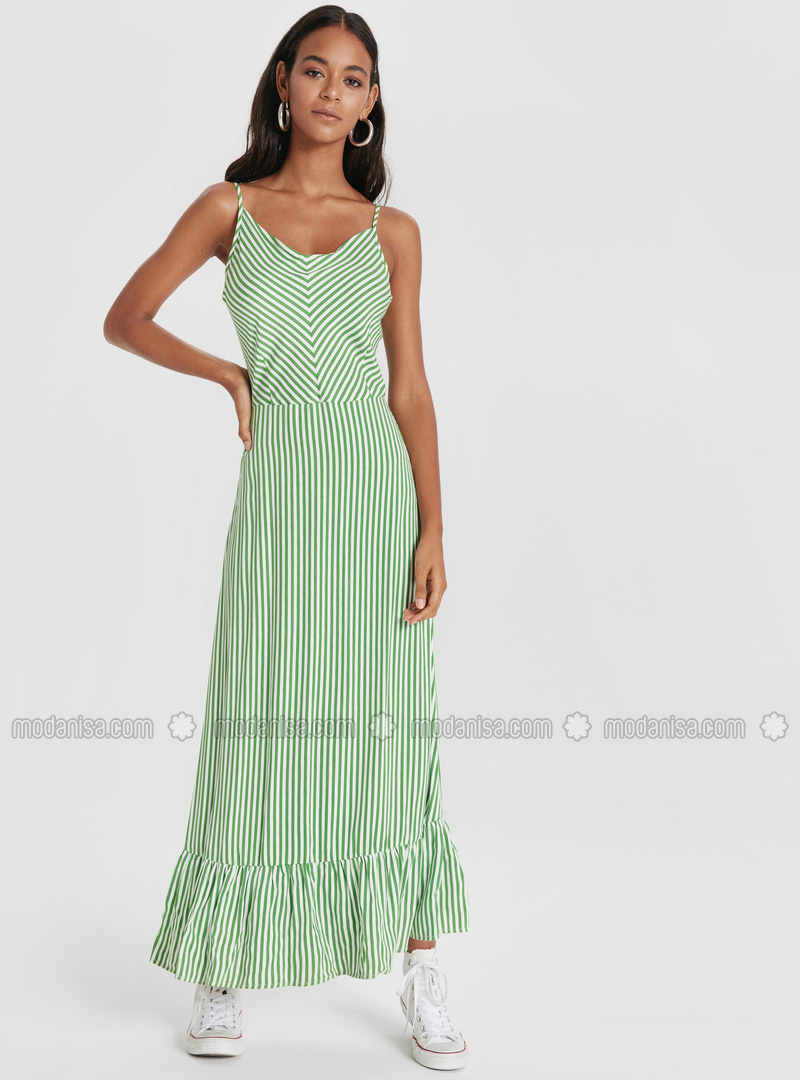 Stripe - Green - Dress