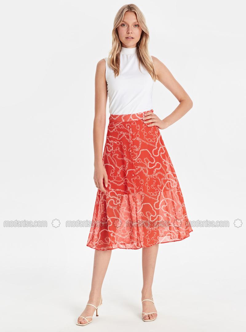 Printed - Ecru - Skirt