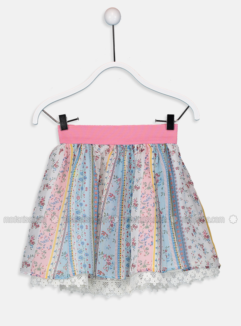Printed - Ecru - Girls` Skirt
