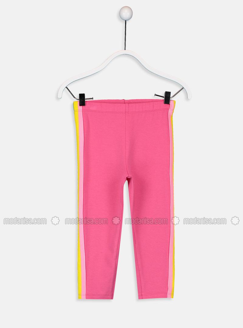 Pink - Girls` Leggings