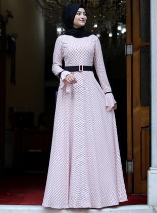 Powder - Polka Dot - Crew neck - Fully Lined - Dress