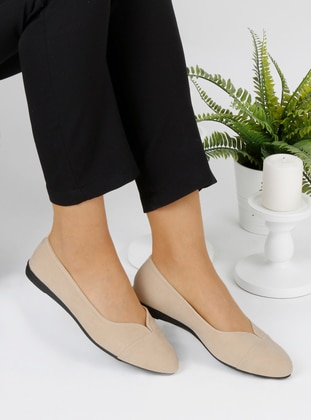 Cream - Flat - Flat Shoes - Renkli Butik