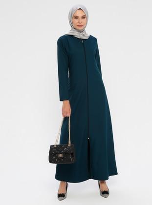 Emerald - Unlined - Crew neck - Abaya