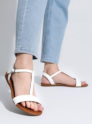 White - Flat - Sandal - Flat Shoes