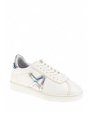 White - Silver tone - Sport - Casual - Sports Shoes