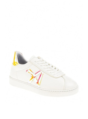 White - Mustard - Sport - Casual - Sports Shoes