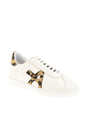 White - Leopard - Sport - Casual - Sports Shoes