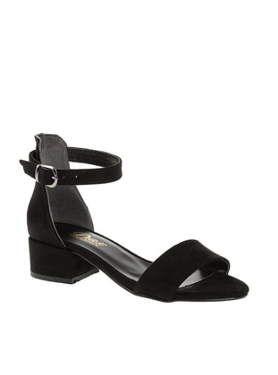 Black - High Heel - Sandal - Sandal