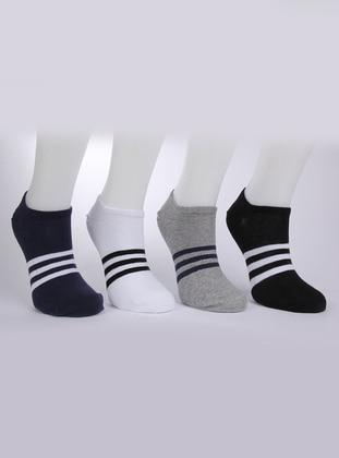 Black - White - Gray - Socks