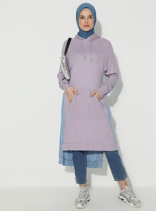 Lilac - Blue - Viscose - Tunic