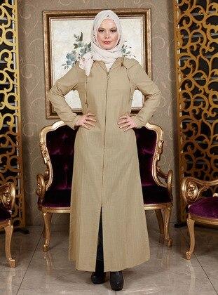 Cream - Unlined -  - Abaya