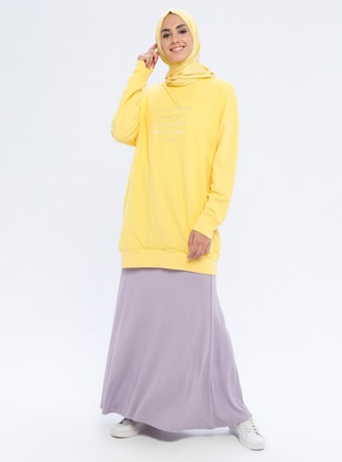 Lilac - Unlined - Viscose - Skirt