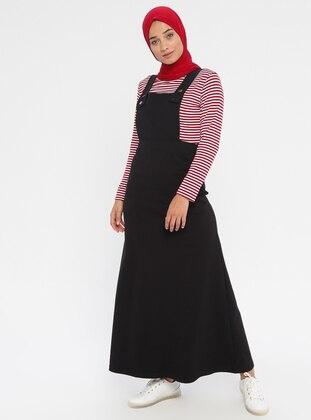Black - Sweatheart Neckline - Unlined -  - Dress