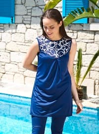 Navy Blue - Half Covered Switsuits