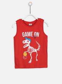 Crew neck - Red - Boys` T-Shirt