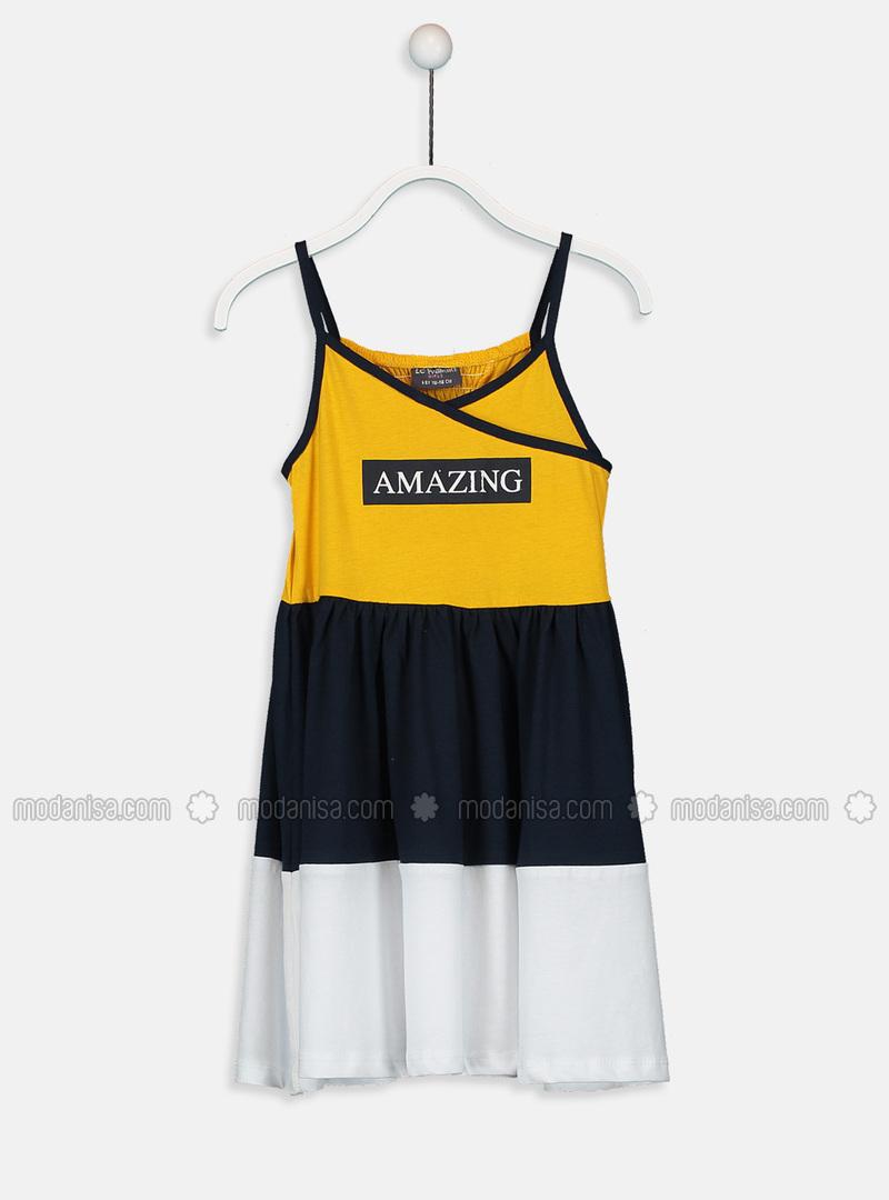Yellow - Girls` Dress