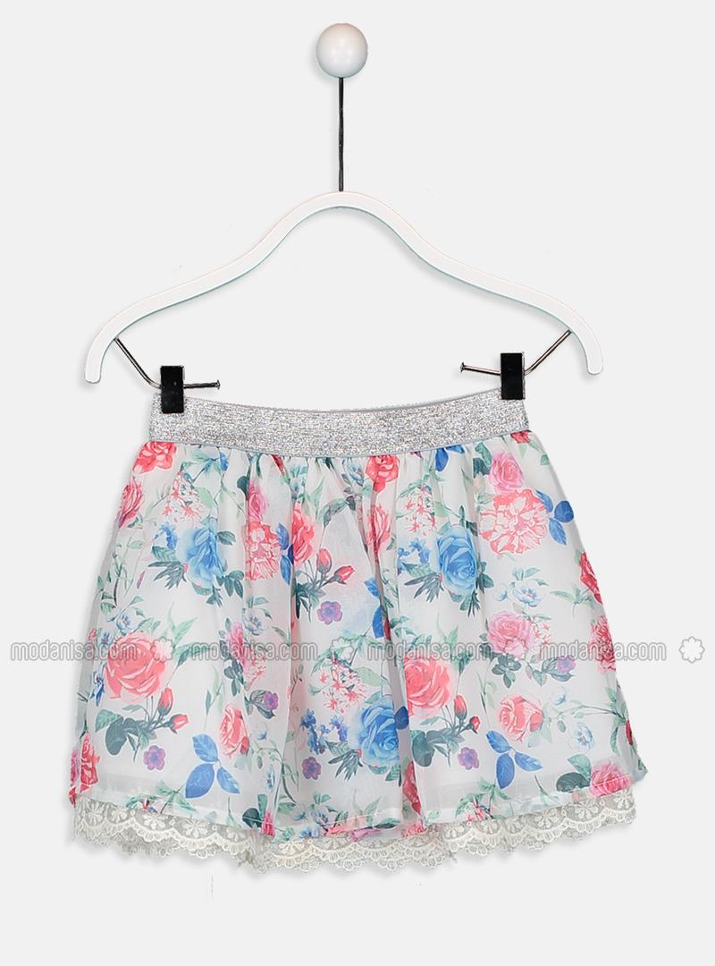 Printed - Ecru - Girls` Skirt
