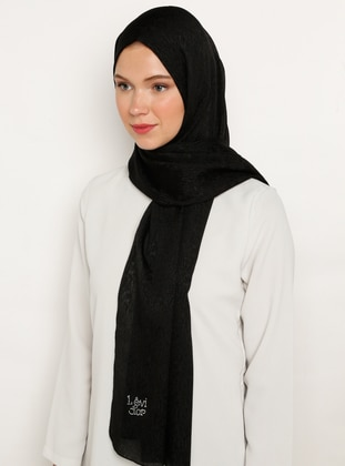 Black - Plain -  - Shawl