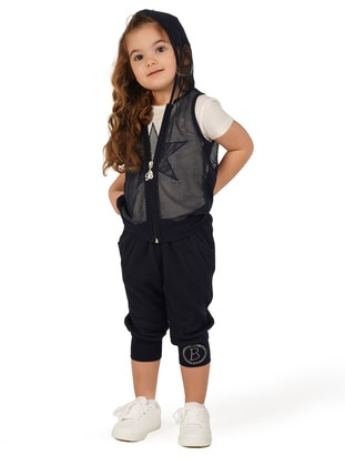 Navy Blue - Girls` Vest