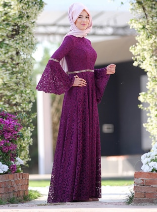 Plum - Fully Lined - Dress