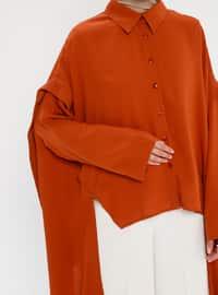 Terra Cotta - Button Collar - Tunic