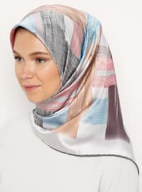Gray - Printed - Scarf