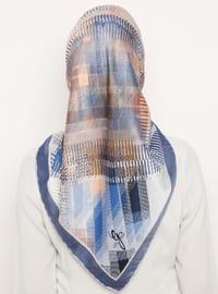 Indigo - Blue - Printed - Scarf