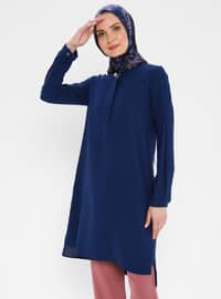 Indigo - Blue - Crew neck - Tunic