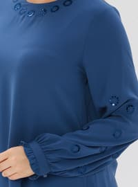 Indigo - Crew neck - Plus Size Tunic