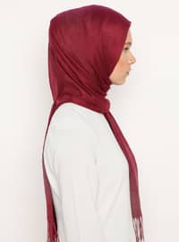 Cherry - Plain - Viscose - Shawl