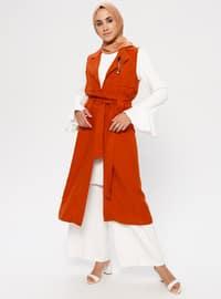 Terra Cotta - Shawl Collar - Tunic