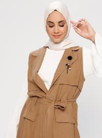 Brown - Shawl Collar - Tunic