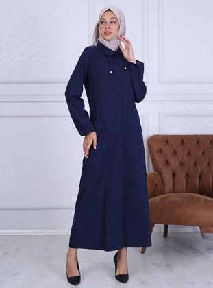 Navy Blue - Unlined -  - Abaya