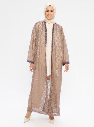 Brown - Unlined - Abaya