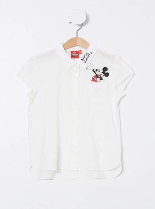 Ecru - Girls` Shirt - DeFacto
