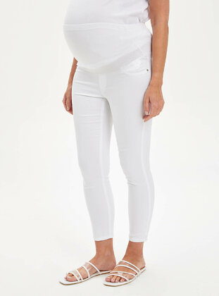 White - Maternity Pants