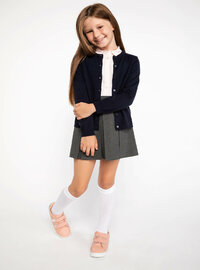 Navy Blue - Girls` Cardigan