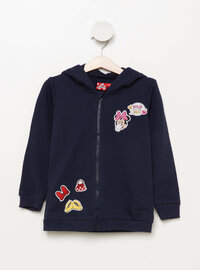 Navy Blue - Girls` Sweatshirt