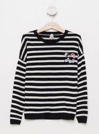Navy Blue - Girls` Pullovers