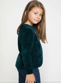 Green - Girls` Pullovers
