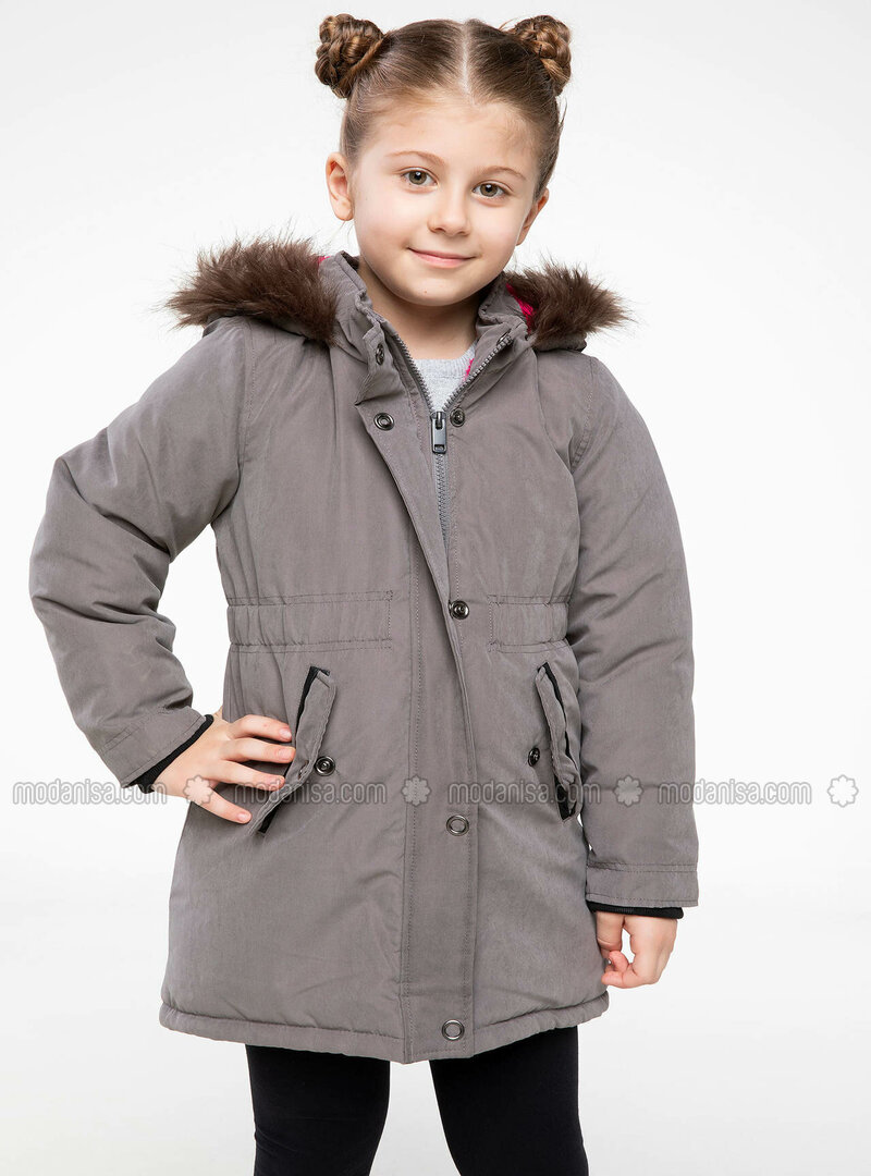 Gray - Girls` Jacket