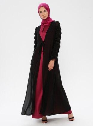 Plum - Black - Unlined - Suit