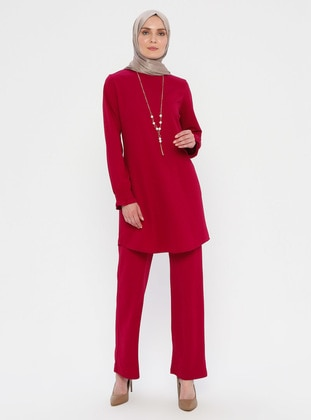 Pink - Fuchsia - Unlined - Suit