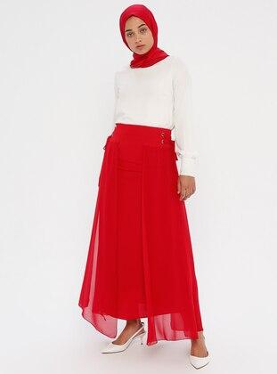 Red - Fully Lined - Skirt