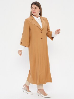 White - Camel - Ecru - Shawl Collar - Viscose - Plus Size Suit