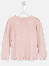 Printed - Crew neck - Pink - Girls` Pullovers