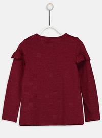 Crew neck - Maroon - Girls` T-Shirt