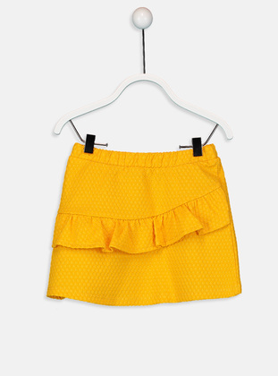Printed - Orange - Baby Skirt
